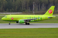 S7 Airlines, VP-BTT, Airbus A319-114 (Anna Zvereva) Tags: plane airport aviation airbus boeing spotting dme domodedovo  uudd
