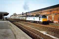 Wakefield Kirkgate, 15 March 1993 (elkemasa) Tags: 1993 wakefieldkirkgate class47