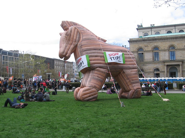 Anti-TTIP protest in Hannover, Germany (May 2016)