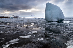 Jkulsrln - Glacier Lagoon (Claire Willans) Tags: sea snow mountains cold ice nature water clouds landscape coast iceland dramatic glacier cloudscape jokulsarlon brokenice jokulsarlonglacierlagoon