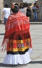 Tehuana Zapotec Woman Oaxaca Mexico (Ilhuicamina) Tags: woman mexicana clothing mujer textiles ropa tehuana oaxacan shawls zapotec