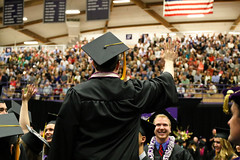 Thank You! (kale.kanaeholo) Tags: portland student university you graduation chiles wave center thank commencement waving