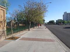 Sidewalk Outside of Left Field at Scottsdale Stadium -- Scottsdale, AZ, March 08, 2016 (baseballoogie) Tags: arizona baseball stadium az giants scottsdale ballpark springtraining sanfranciscogiants cactusleague baseballpark scottsdalestadium 030816 canonpowershotsx30is baseball16