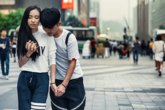 Young Lovers, Shenzhen (Jon Siegel) Tags: china street city boy people urban woman man cute girl youth nikon asia afternoon candid 14 chinese young 85mm romance lovers romantic shenzhen holdinghands date nikkor inlove nikon85mmf14 d810 nikkor85mmf14afd