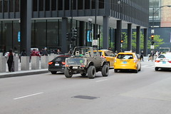 City Samurai (Flint Foto Factory) Tags: plaza camera city urban chicago yellow architecture truck john japanese evening illinois spring downtown afternoon traffic jeep loop cab taxi famous may convertible mini jackson architect samurai rushhour suzuki pm import ludwig federal mies dearborn jimny vanderrohe 2016 kluczynski sooc worldcars straightoutof