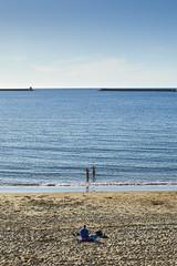 Saint-Jean-de-Luz (Herv KERNEIS) Tags: ocean sky france beach water sand eau sable ciel plage swiming paysbasque ocan baignade nikkor50mmf14 nikond700