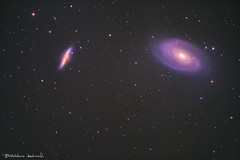 M81 Bode's Galaxy & M82 Cigar Galaxy (Bill-Metallinos) Tags: night way photography major nightscape ngc deep cigar greece telescope galaxy astrophotography astronomy nightsky messier corfu milky starburst ursa astrophoto galactic bodys m82 m81 3031 deepsky 3034 metallinos messier81 astrolandscape astrocorfu astrovox messie82