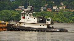 Miller's Launch Tugboat Catherine C Miller (thetrick113) Tags: river spring crane vessel tugboat hudsonriver barge hudsonrivervalley frontendloader 2016 beaconnewyork hudsonhighlands millerslaunch clydecrane cablecrane newburghnewyork catherinecmiller dutchesscountynewyork orangecountynewyork clamshellbucket deckbarge workingvessel tugboatcatherinecmiller sonya65vslt spring2016 mairnecrane