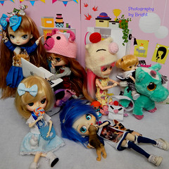 Mis amadas pequeñinas /My loved little girls (BrightMoon Dolls) Tags: hello doll dumbo jardin kitty dal du groove chenille frara podo byul dotori littledal yeolume xxxtrasmall zigzagkat