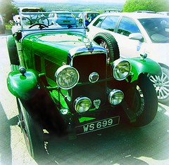 1931 Alvis Speed 20 convertible (John(cardwellpix)) Tags: uk two speed corner 1931 sunday may convertible surrey 20 guildford reg 8th newlands alvis albury ws 2016 699 merrow seater