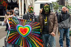 Marche mondiale du cannabis (dprezat) Tags: street portrait people paris nikon contest protest guyfawkes v drug marijuana anonymous bastille cannabis marche manif manifestation vendetta herbe fawkes d800 dfil thrapie drogue nikond800 hashich dpnalisation