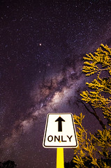 Pointing the Way (inefekt69) Tags: road longexposure nightphotography trees sky signs night rural stars nikon outdoor dam space australia reservoir tokina southern galaxy astrophotography perth astronomy dslr 11mm cosmos westernaustralia core cosmology galactic milkyway southernhemisphere canningdam 1116mm greatrift d5100