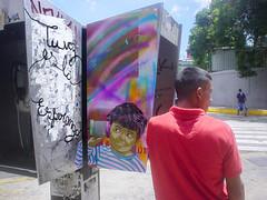 Tu voz (D11 Urbano) Tags: boy art stencil phone arte venezuela caracas urbano venezolano arteurbano d11 streetartvenezuela artvenezuela d11streetart arteurbanovenezuela d11art d11urbano