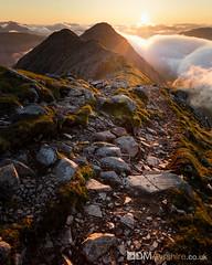 Sunrise on Buachaille Etive Beag [IMG_6217] (GammyKnee) Tags: cloud mountain sunrise landscape scotland hill scottish ridge glencoe inversion