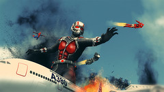 civil war () Tags: photoshop airplane war smoke explosion spiderman ironman civilwar hero marvel captainamerica avengers manipulate warmachine antman marvelcomic