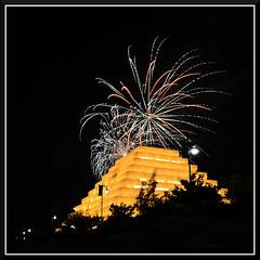Fireworks_4527 (bjarne.winkler) Tags: from ca cats game west building home river fireworks side sacramento behind ziggurat