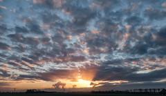 Skyscape (Jorden Esser) Tags: sky sun clouds sunrise skyscape landscape rays sundawn middendelfland nederlandvandaag
