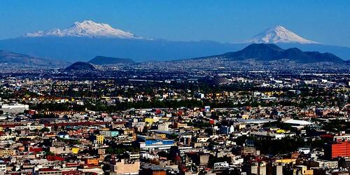Los Volcanes desde la Ciudad de México, hoy.