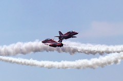 Closing fast (johnhontai) Tags: jet reds southport redarrows hawkt1 smokeone panasonicg6 kempophotography pairsdisplay