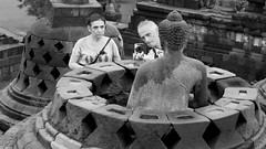 4432  A photographer at work--Borobudur , Indonesia (ngchongkin) Tags: borobudur java indonesia buddha statue earthasia wonderfulasia