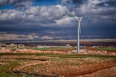 Wind Turbine (Hanna Khoury) Tags: wind turbine windturbine clouds badweather plainedebekaa bekaa lebanon deirelahmar  greysky nuages        delr ahmar bekaavaley fieldofbekaa freeenergy energiegratuite