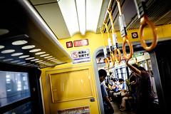 Monorail again ~ with heavy fully loaded luggage..... (Steve Wan^_______________,^) Tags: trip family love june may fujifilm okinawa monorail familytrip okinawan 2016    x100t