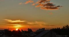el sol a la fuga (ojoadicto) Tags: sunset atardecer sun sol nubes clouds contraluz contrast city ciudad casas horizonte artisticphotography
