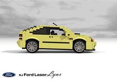 Ford KJ Laser Lynx Hatch (lego911) Tags: ford laser lynx 1994 kj hatch hatchback 3dr 3door mazda 323c familia neo 1990s japan motor company auto car moc model miniland lego lego911 ldd render cad povray lugnuts challenge 104 thescienceofitall science light constellation