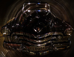 Activate the Time Tunnel (Steve Taylor (Photography)) Tags: brown black reflection art digital circle fun cool shiny perspective cadillac special sparkle chrome series timetunnel 60 v8 fleetwoodsedan