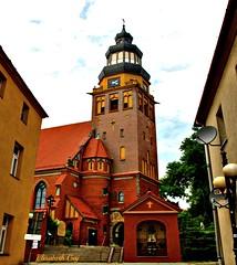 WODZISLAW SLASKI-POLAND-08 (Elisabeth Gaj) Tags: city travel building tower church architecture europa poland polska polen elisabethgaj