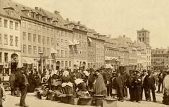 Street Scene in Copenhagen (CardCollector & HobbyPhotographer) Tags: albumenprint realphoto vintage photo copenhagen kopenhagen denmark 1887 streetscene sepiatone