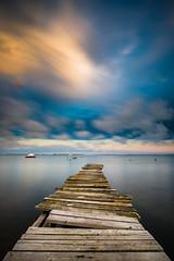 Small dock (modesrodriguez) Tags: wood longexposure water agua pantalan largaexposicion deltadelebro