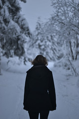 In a deep forest (Jan Vacek) Tags: snow alone forrest
