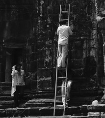 Ladder work (Dave Awtrey) Tags: cambodia fuji xt10
