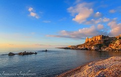 Landscape (Francesco Impellizzeri) Tags: sunset seascape clouds landscape rocks sicily sicilia trapani