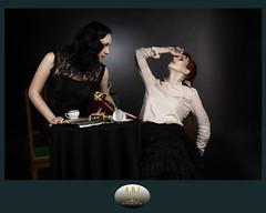 Le dernier soupir (ARI.Photographie) Tags: dark studio death darkness duo breath wicked redhair teatime darkhair gingerhair darkbeauty