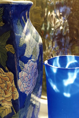 1999 0718 (2016 0613 SP23) Vases (Lucy Melford) Tags: blue vase