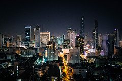 Bangkok by night (juliajauss) Tags: city urban night rural skyscraper dark thailand lights bangkok stadt bigcity metropole hochhaus hochuser citybynight