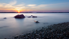 Land of the Midnight Sun (Juho Mkinen) Tags: longexposure finland suomi nd500 hoya sunset summer sun water waterscape beach ocean sea sigma nikon night nightless