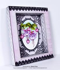 Cascading Fuchsia  Shadow box_2 (Nupur Creatives) Tags: heartfelt creations heartfeltcreations
