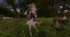 Pets in the Shire (Ima Peccable) Tags: pets secondlife shire hobbitssecondliferegiontheshiresecondlifeparceltheshireahomelysliceofmiddleearthsecondlifex60secondlifey53secondlifez21