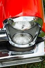 The red carpet is standard equipment (GmanViz) Tags: color detail car nikon automobile bumper fender chrome lincoln 1957 headlight premiere gmanviz d7000