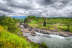 Highway 16 (jbarc in BC) Tags: bridge sky clouds river outdoors highway bc view native highway16 bulkley
