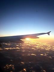 My sunset... today.... (ana.jerlich) Tags: autumn light sunset sky sun sunlight clouds airplane airport warm portoalegre bluesky ciel cielo poa riograndedosul