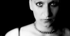 After the Party... (lichtflow.de) Tags: portrait bw woman canon reflex eyes gesicht portrt ef50mmf14 sw augen frau blitz kontrast geschminkt eos5dmarkiii