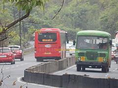 MSRTC City Bus (kunalas440) Tags: thane ashokleyland msrtc maharashtrastateroadtransportcorporation msrtcashokleylandbus nonacbus ghodbunderghat greencitybus msrtccitybus thanedepot arnaladepot