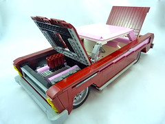 1965 Mercury Comet CycloneRed Menace (Lino M) Tags: pink red car dark drag all lego mercury muscle nuts fast it science martins comet cyclone lino menace racer 1965 lug