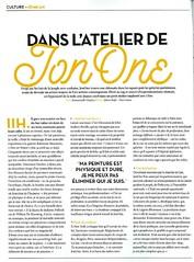 DANS L'ATELIER DE JONONE - VIVRE PARIS (Brin d'Amour) Tags: article atelier presse jonone brindamour vivreparis