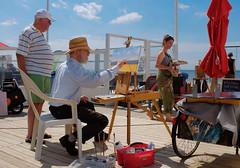 Schilderfestival Noordwijk 2016 (klaroen) Tags: schilder de artist nederland painter kunstenaar noordwijk 2016 zeester schilderfestival strandpaviljoen