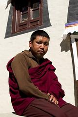 Buddhist monk (Adept Photography) Tags: nepal stupa monastery nepalese yaks everest himalayas 2016 tengboche stupas
